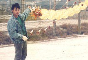陳健泉七十年代初始接觸風箏,年少時特別鍾愛中國傳統風箏。(受訪者提供)