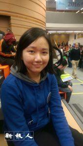 譚小姐支持梁天琦「以武制暴」的路線。