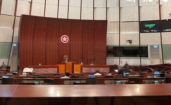立法會恢復有關區議員條例草案二讀。姚超雯攝